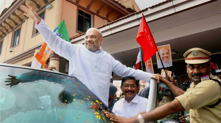 amit shah in kerala, bjp chief, indian express