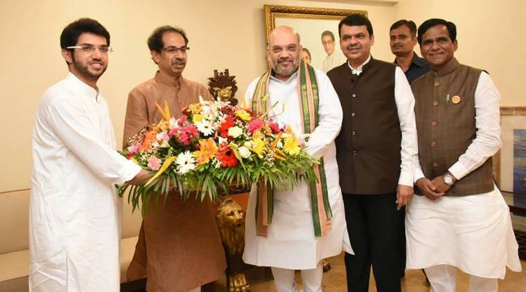 Amit Shah, Devendra Fadnavis, Uddhav Thackeray, President Polls, Mumbai News, Indian Express News