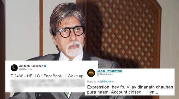 amitabh bachchan, facebook, amitabh bachchan facebook page problem, mark zuckerberg, fans solution amitabh bachchan fb problem, entertainment news, social media news, indian express, trending news