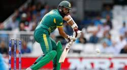 South Africa's Hashim Amla in action