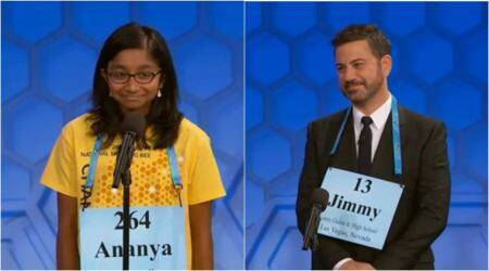 WATCH: US spelling bee champion Ananya Vinay and Jimmy Kimmel had a spelling challenge, and it was hilarious!