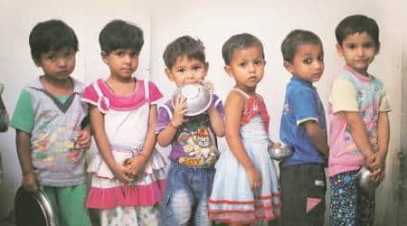 Coronavirus cases, delhi anganwadi centres closed, nutrition to children, delhi news, indian express news