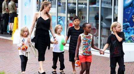 Angelina Jolie turns her LA mansion into a fun house for her six children