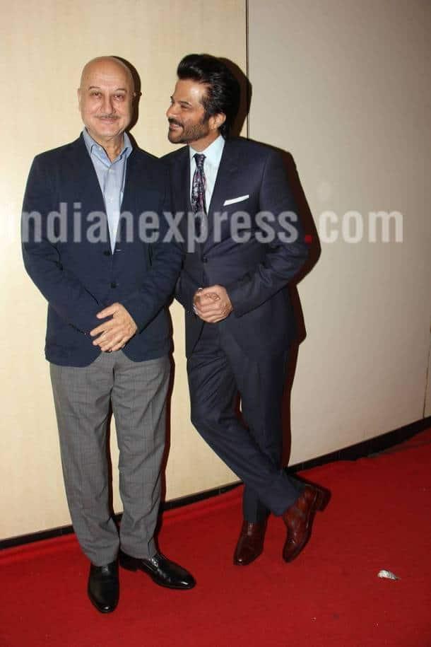 Anil Kapoor, Anupam Kher, Anil Kapoor Dada Phalka Academy Awards, Anupam Kher Dada Phalka Academy Awards, Dada Phalka Academy Awards 2017 pics