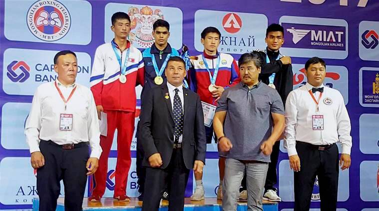 ankush dahiya, devendro singh, Ulaanbaatar Cup, mongolia, mongolia tournament, mongolia boxing tournament, boxing, sports news, indian express