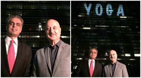 Anupam Kher feels proud on the Illumination of the United Nations Headquarters. See photos, video