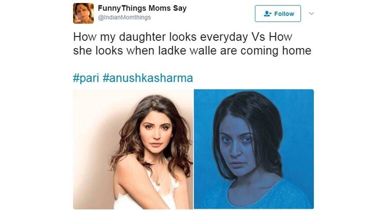 anushka sharma, anushka sharma pari first look, reactions on pari, twitter reactions on anushka sharma; pari first look, indian express, indian express news