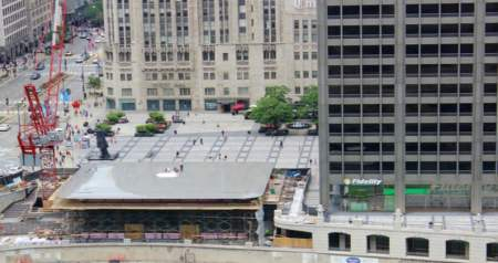 Apple's new store in Chicago has a giant MacBook Air on its rooftop