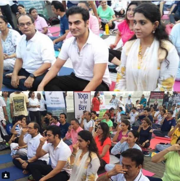 International Yoga Day 2017, International Yoga Day, International Yoga Day images, Arbaaz Khan