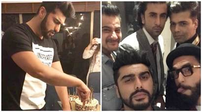 Arjun Kapoor gets a surprise birthday bash by Ranbir Kapoor, Ranveer Singh, Karan Johar. Inside photos are all bromance