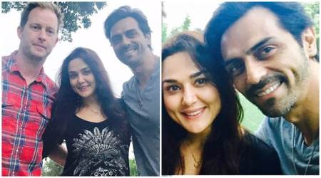 Arjun Rampal had an amazing LA visit, thanks to Preity Zinta and her husband Gene Goodenough. See photo