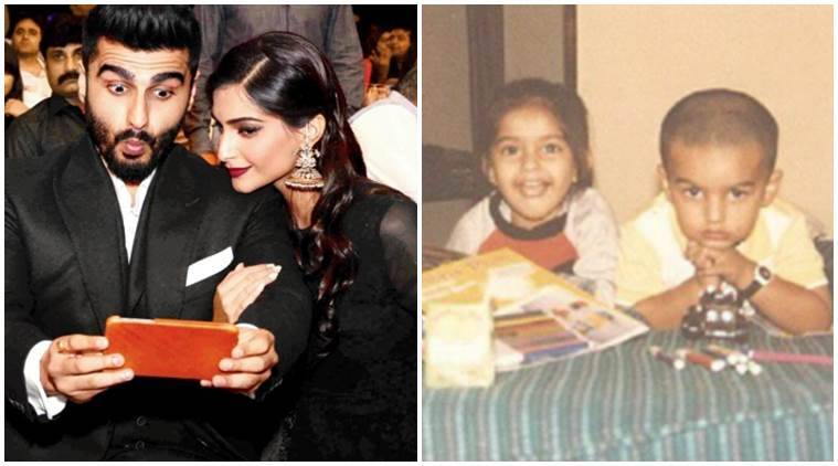 Sonam Kapoor, Sonam Kapoor arjun kapoor old photo, Arjun Kapoor, Sonam Kapoor arjun kapoor childhood photo