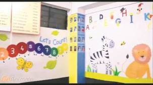 Fine arts students give a makeover to creche in Budhwar Peth