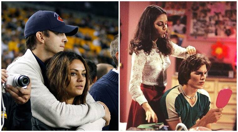 ashton kutcher shares details about his first kiss with mila kunis