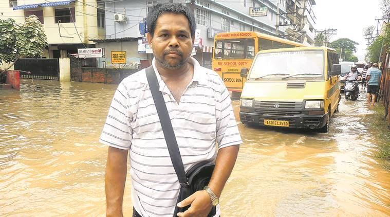 assam floods, guwahati flood, monsoon, guwahati residents, guwahati municipality, poor drainage, india news, indian express
