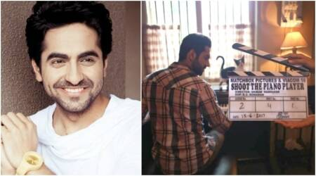 Ayushmann Khurrana begins filming for Sriram Raghavan's next. Is it called Shoot The Piano Player? See photo
