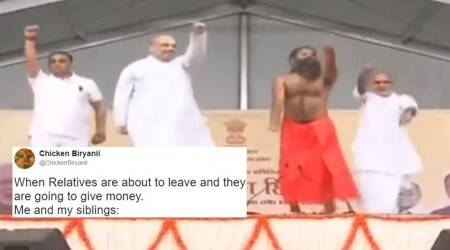 Twitterati turn this video of Baba Ramdev and Amit Shah doing yoga into a hilarious caption contest