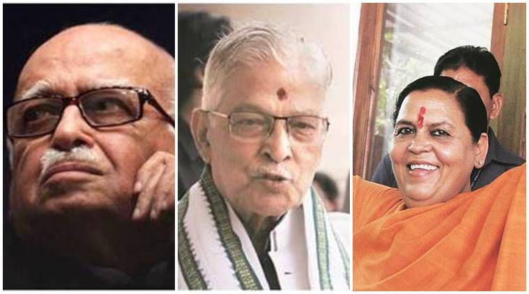 babri masjid case, babri masjid demolition, babri masjid hearing, lk advani, murli manohar joshi, uma bharti, babri masjid cbi court, india news, indian express news