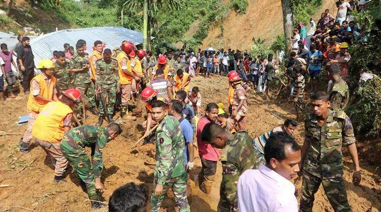 Bangladesh cyclone Mora, Bangladesh weather report, Bangladesh landslides and floods, Bangladesh natural calamity deaths, Assam rainfall, indian express news