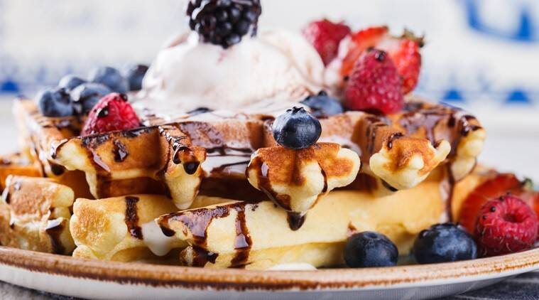 waffles, best waffle places, best waffle places in the city, best waffle restaurants in delhi, stop my starvation delhi, stop my starvation new delhi, stop my starvation new delhi first anniversary offers, indian express, indian express news