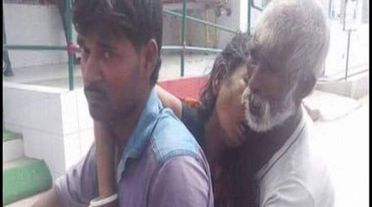 medical apathy, man carries wife's dead body, bihar, purnia, bihar medical negligence, lack of ambulance, mortuary van, Purnia incident, Bihar news, indian express