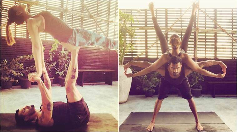international yoga day 2017, bipasha basu yoga day, bipasha basu instagram, bipasha basu karan singh grover,