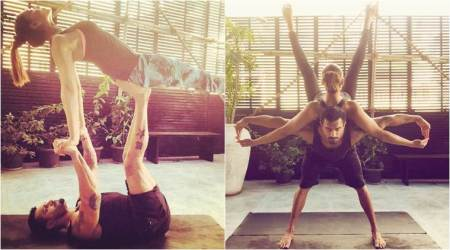 Bipasha Basu, Karan Singh Grover turn 'yogi monkeys' on International Yoga Day 2017, see them doing awe-inspiring asanas