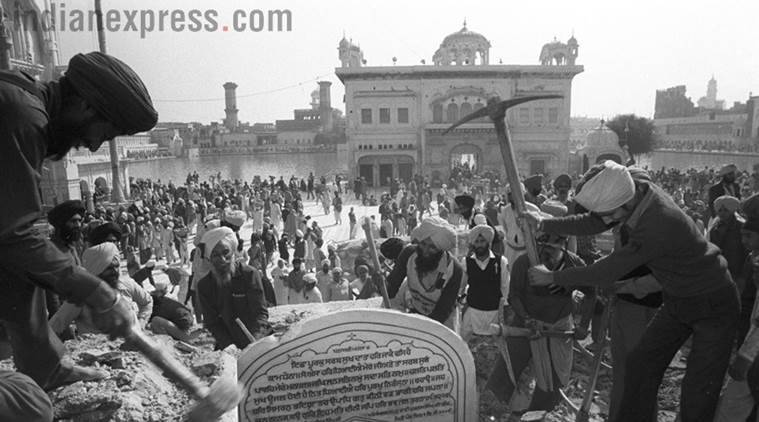 Operation Blue star, Operation Blue Star anniversary, what is operation blue star, Indira Gandhi, 1984 riots, Anti-sikh riots, Indian Express