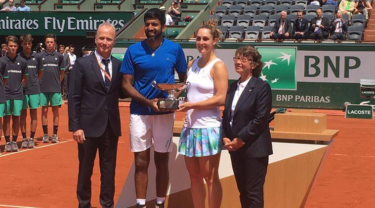 rohan bopanna, french open, french open mixed doubles, india tennis, tennis news, sports news, indian express