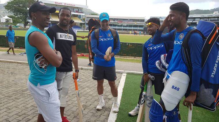 Image result for Indian cricket team gets a surprise visit from Dwayne Bravo
