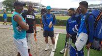 Team India gets a surprise visit from Bravo