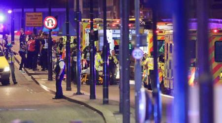 London Bridge incident: Witness says saw white van veering into people