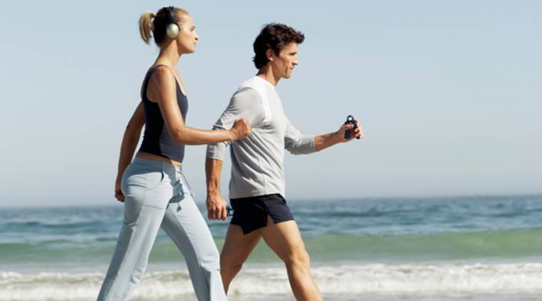 brisk walking, brisk walking advantages, brisk walk and heart diseases, Indian express, Indian express news