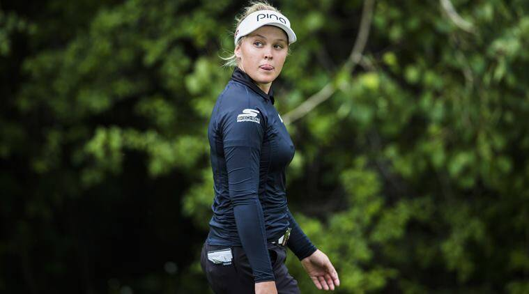 Brooke Henderson stumbles late, keeps Meijer LPGA lead