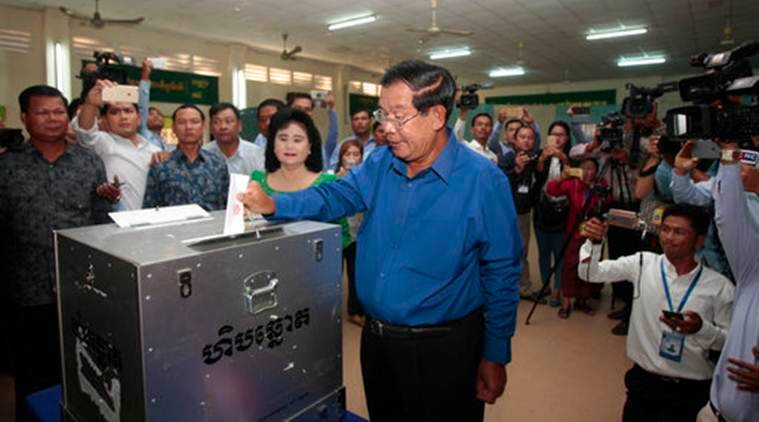 Cambodia election, PM Hun Sen, Cambodia PM Hun Sen, Hun Sen, Cambodia Communal elections, World News, Latest World News, Indian Express, Indian Express News