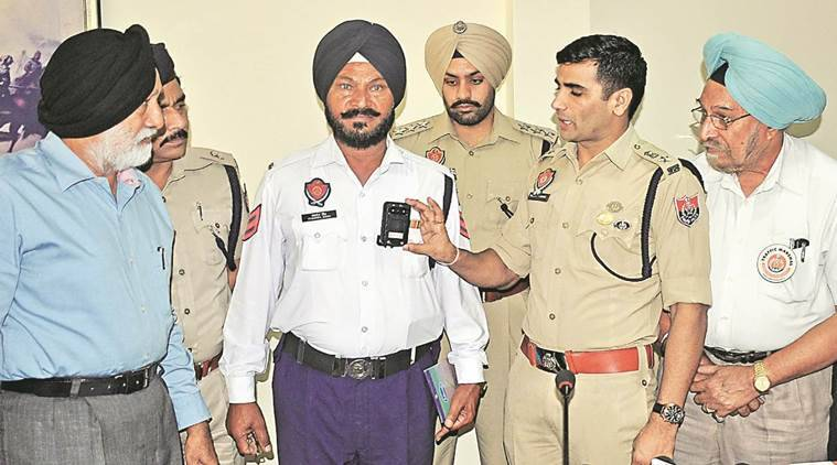 Mohali Traffic police,  body cameras, Mohali police, Indian express news, India news, Latest news