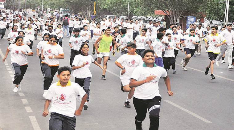 PGIMER, World Tobacco day, smoking, Mini marathon, Indian express news, india news, Latest news