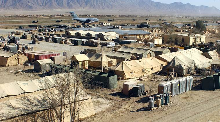 US Base. afghan guard killed, afghan guard attacked, US airbase attacked, Indian express, India news, World News