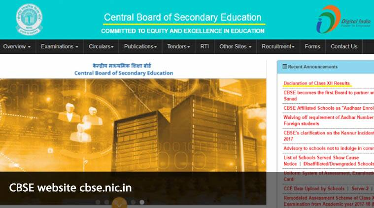 cbse, cbse 12th results, cbseresults.nic.n
