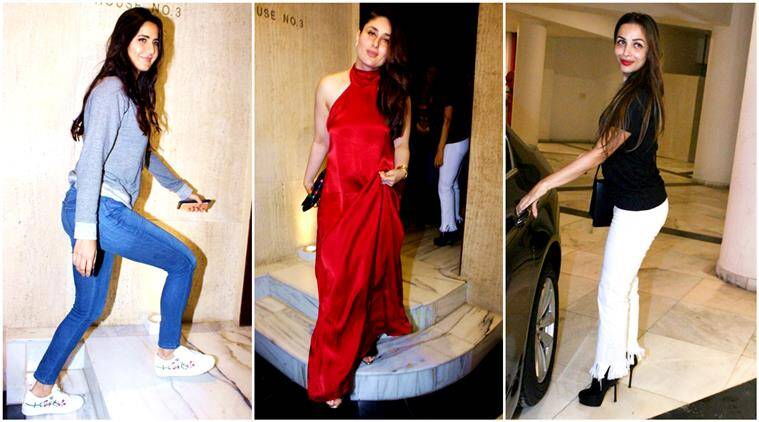 manish malhotra, manisha malhotra party, manish malhotra bash, kareena kapoor khan, kareena kapoor cost of dress, kareena kapoor red hot dress, katrina kaif, malaika arora, neha dhupia, lifestyle, fashion, indian express, indian express news