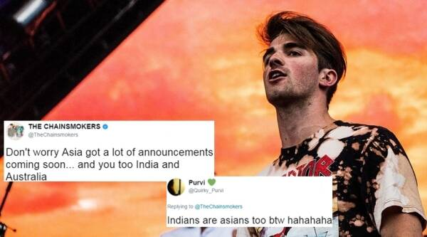 The Chainsmokers, chainsmokers in india, chinsmokers concert, twiiter reactions, indian express, indian express news