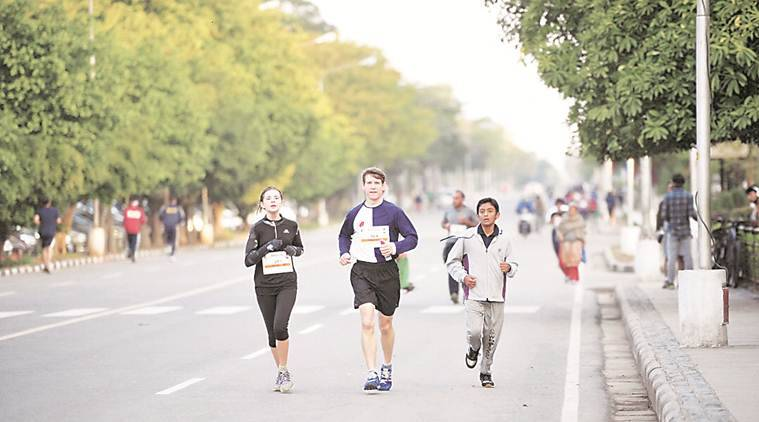 Chandigarh, Chandigarh marathoner, Chandigarh marathon, Chandigarh unner, ICC world cup, indian express news, sports