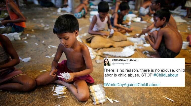 world day against child labour, child labour, child abuse, twitter reactions, indian express, indian express news