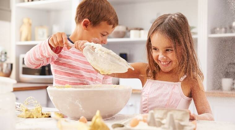 kids and baking, baking pastime, baking and fun activities, learning through baking, Indian express, Indian express news