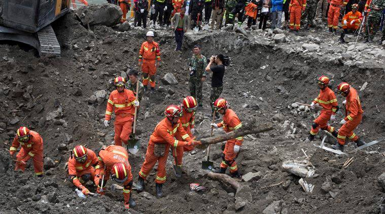 China, CHina floods, China landslide, China landslide toll, china landslide death toll