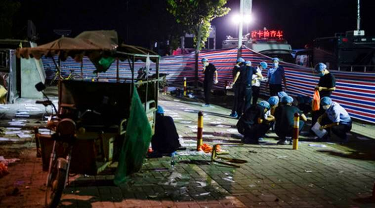 China kindergarten blast caused by bomb, suspect dead