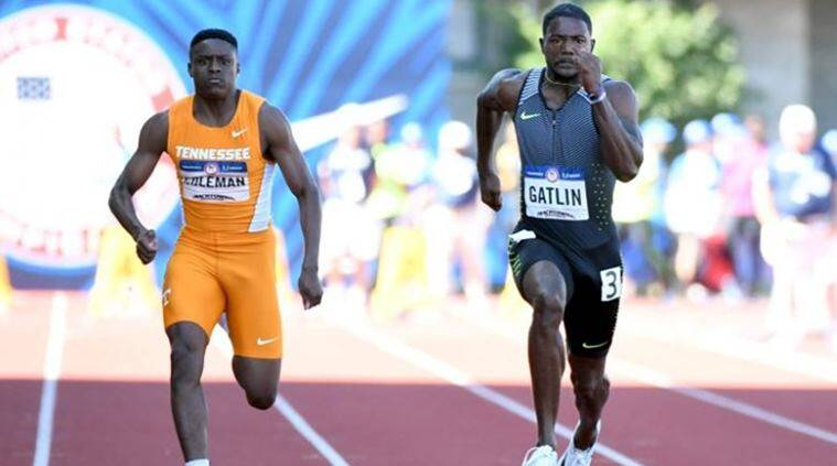 Christian Coleman, US World Championship trials, Indian Express