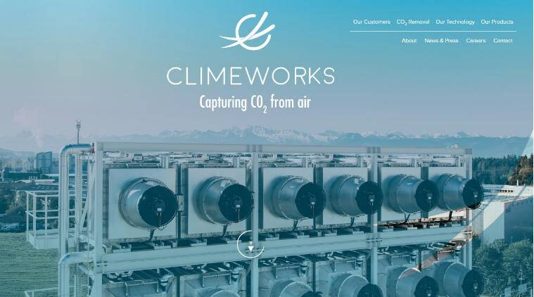 Climeworks,  extract greenhouse gas carbon dioxide,reduceglobal fossil fuel emissions, ETH Zurich institute, CO2 collectors,Direct Air Capture (DAC) technology