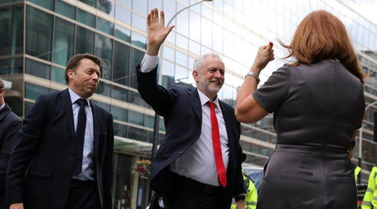 Jeremy Corbyn. Britain elections, Theresa May, Brexit