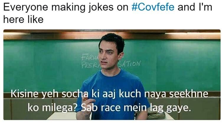 donald trump, #covfefememes, covfefe, donald trump covfefe tweet, donald trump covfefe funny twitter reactions, trump funny convfefe meaning, trump covfefe meaning tweet, indian express, covfefe twitter reactions, indian express, indian express news